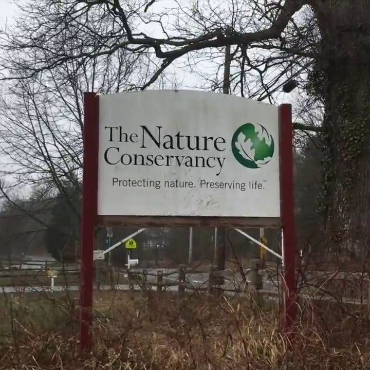 Nature conservancy sign